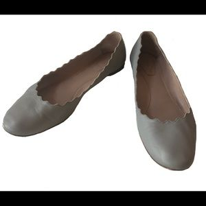 Chloe flats with scalloped edge. Size 38.